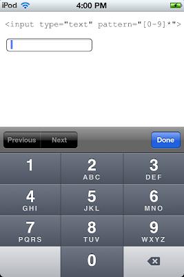 Input type tel html5