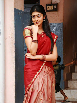 Actress Prathishta Red Saree Photos