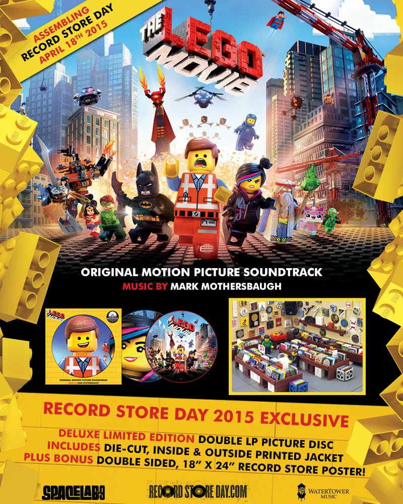 Record Store Day 2015 Exclusive The LEGO Movie Soundtrack Picture Disc Vinyl Record by SPACELAB9