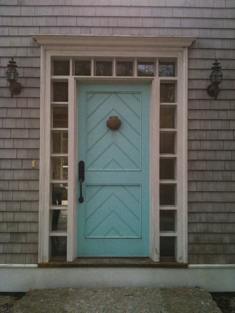 creed front door friday turquoise chevron