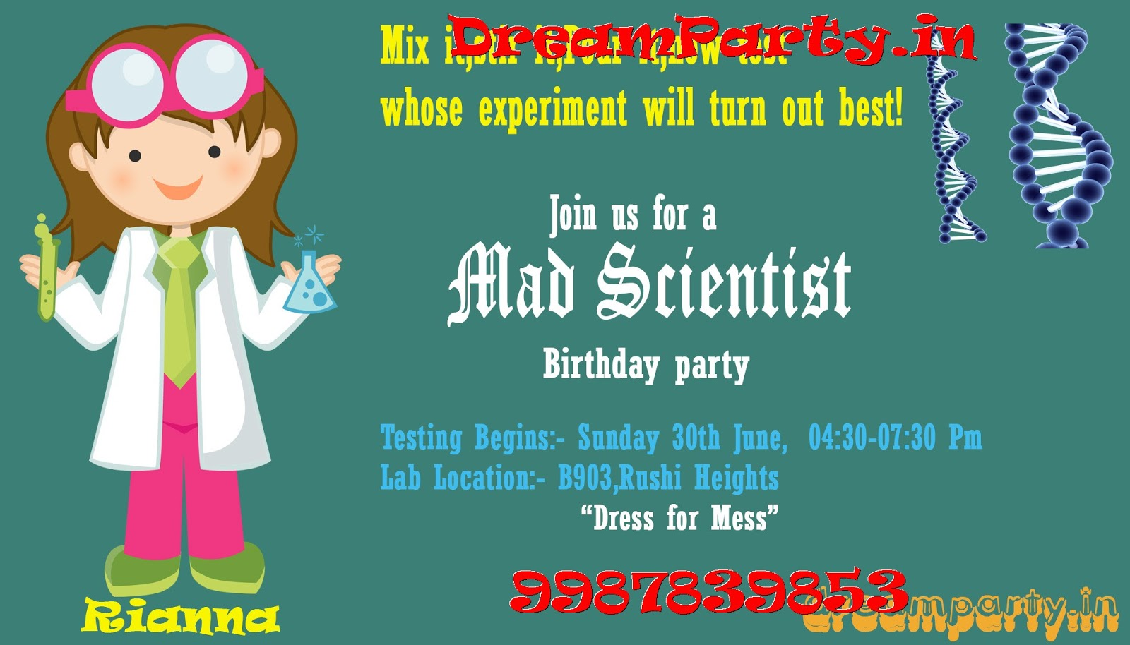 Awesome Science Themed Birthday Party Invitations Contemporary ...