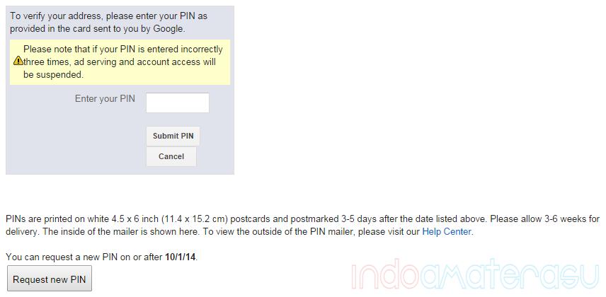 Cara Reques PIN Google Adsense Yang Tak Kunjung Datang 3
