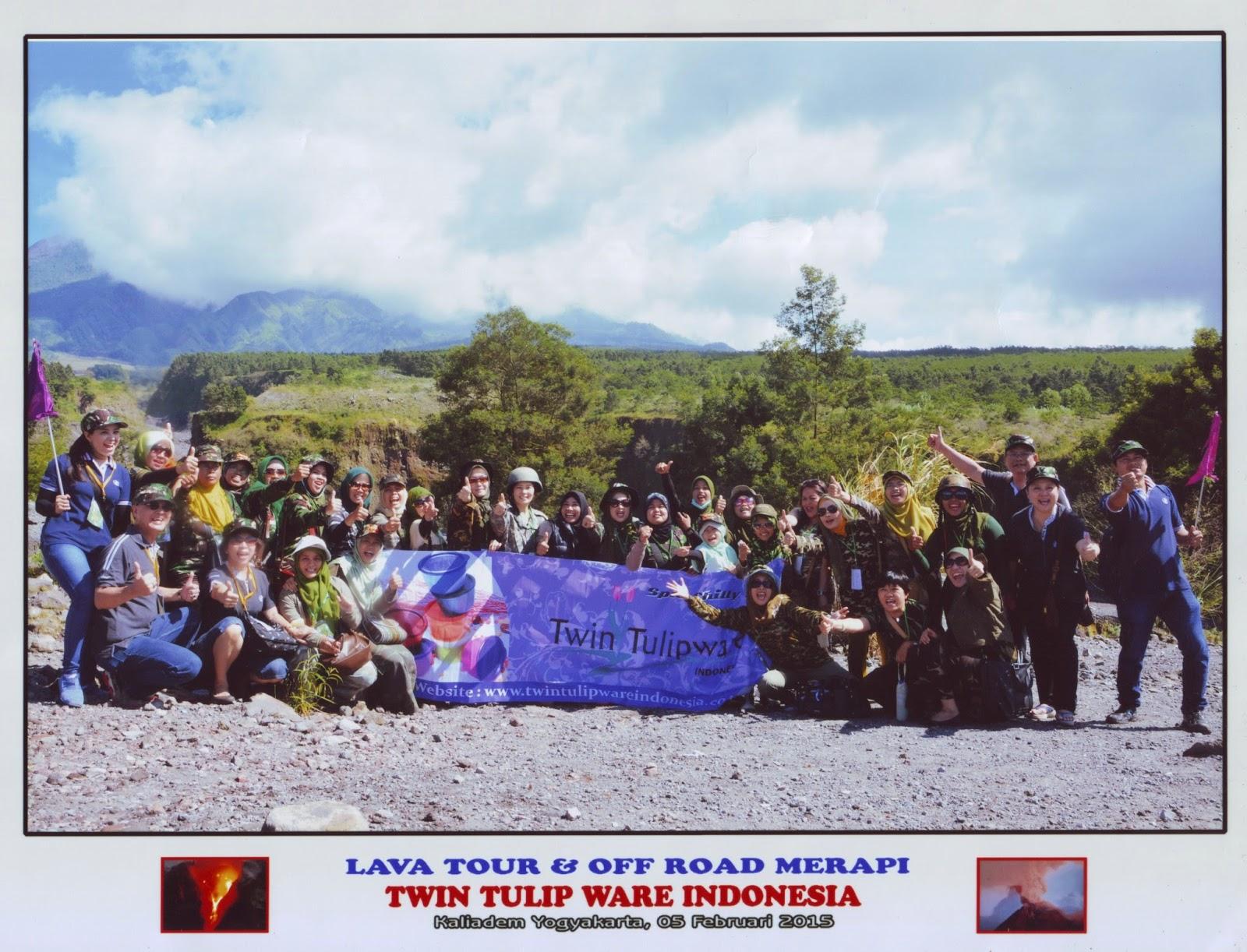 Tour Twin Tulipware 2015 di Lava Merapi