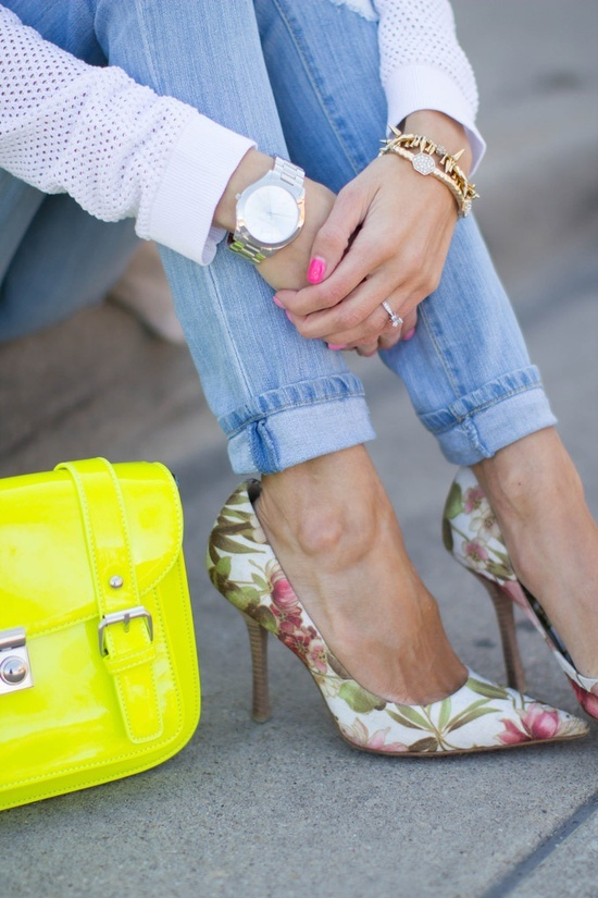 From Floral Pants to Floral shoes