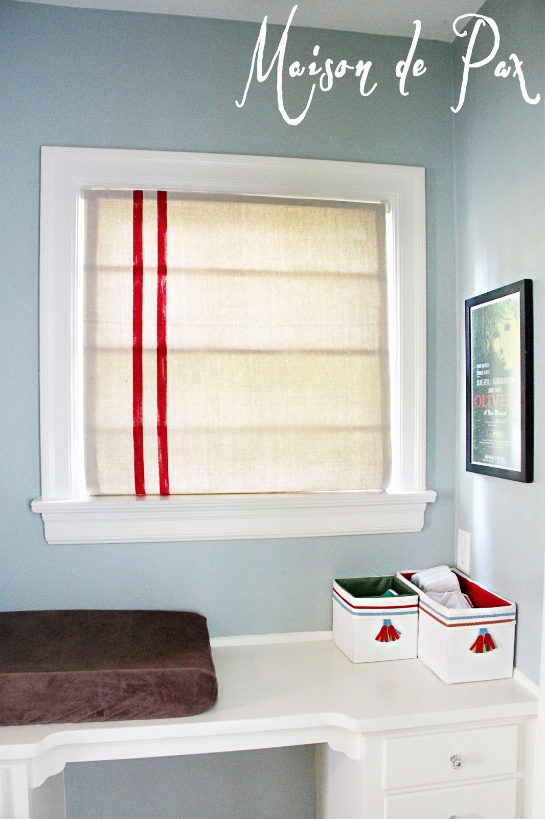 mini blinds to roman shades. Black Bedroom Furniture Sets. Home Design Ideas