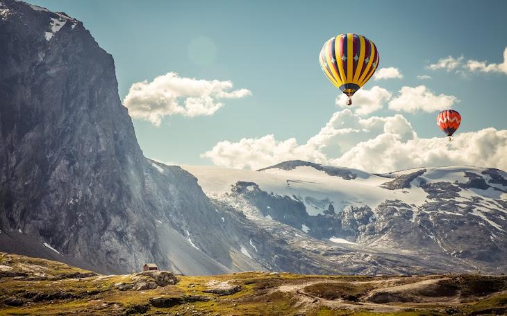 Balloon Trip Over Mountains
