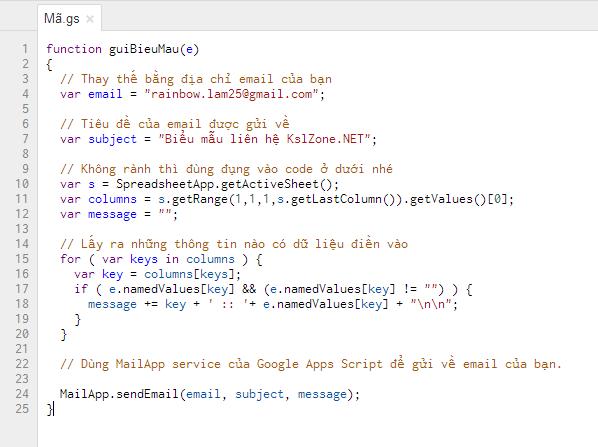 Chèm code vào nội dung