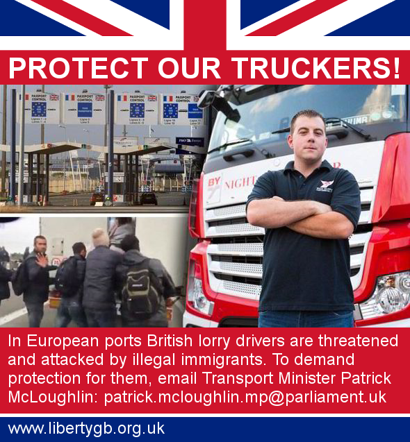 Liberty GB campaign Protect Our Truckers!