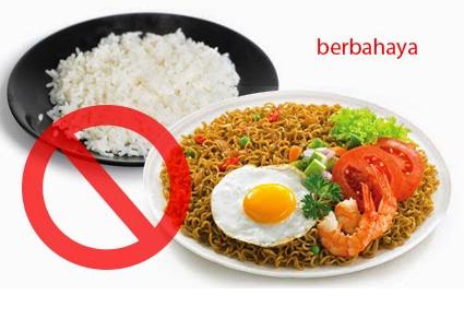 Bahaya Makan Mie Instan Dengan Nasi Putih