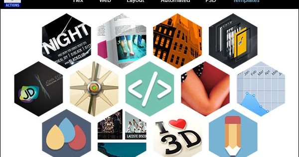 Designeasy Hexagon Web Layouts Automated Psd Templates