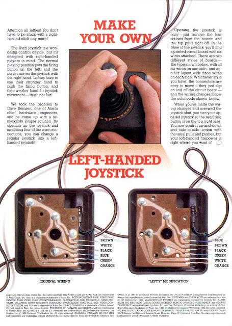 "Atari Age - Jan/Feb 1983 - USA - ""Make Your Own Left-Handed Joystick""."