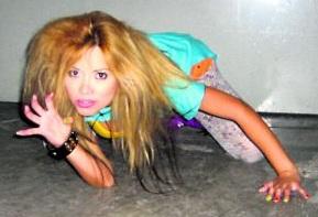 Foto de Leonor Vargas como Gloria Trevi