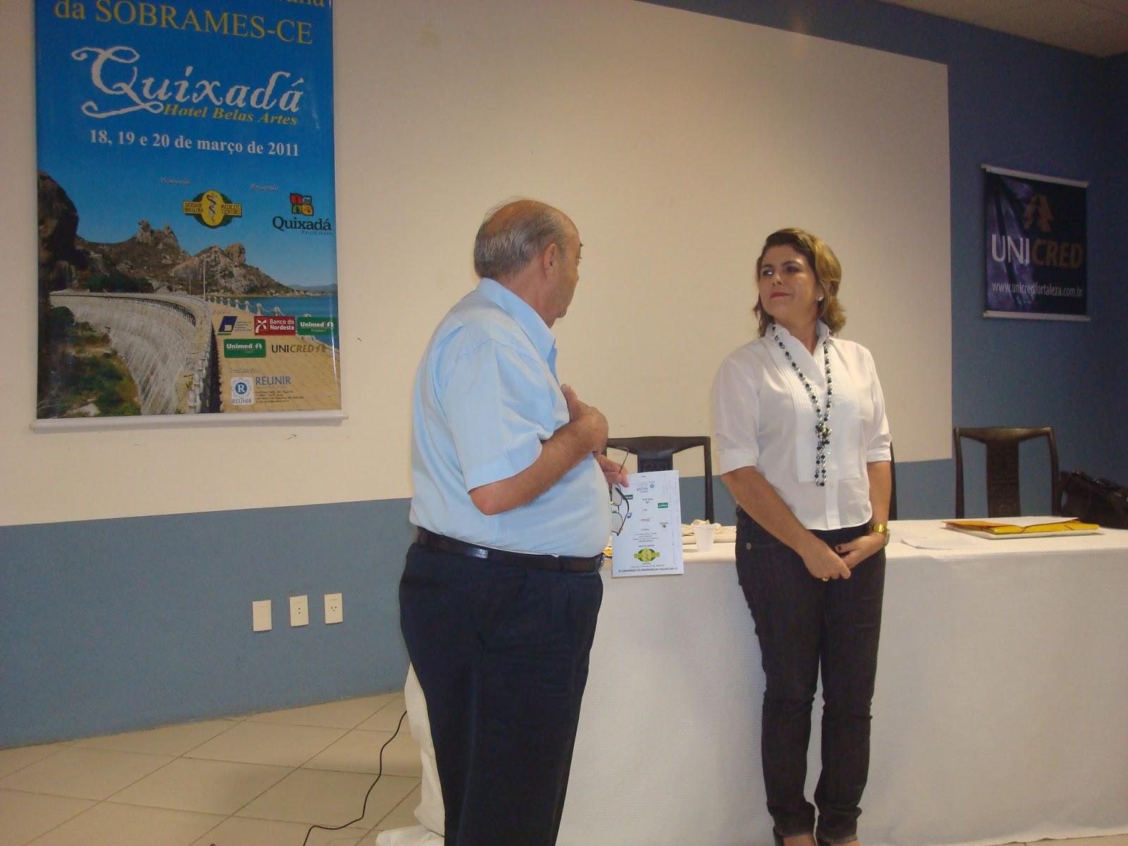 Encontro da SOBRAMES - Sociedade Brasileira dos Médicos escritores em Quixadá, 2010