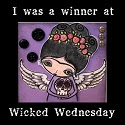 I am a winner of Wicked Wednesday ATC Challenge