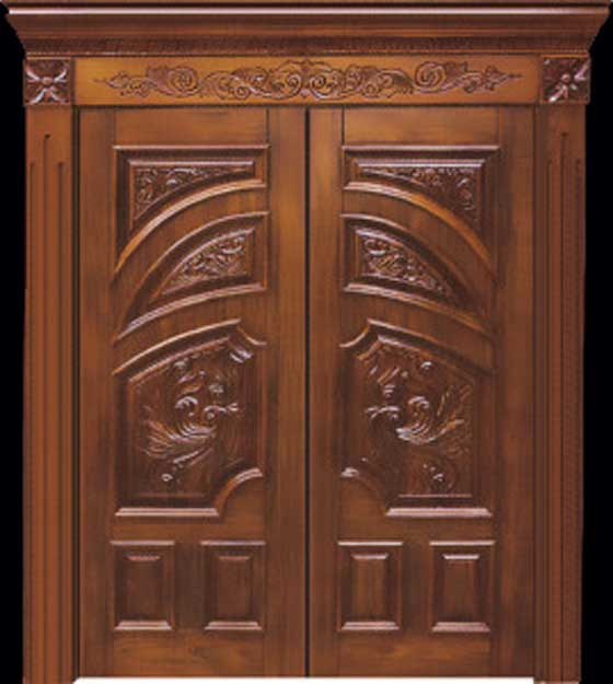 Latest model home front wooden door design pictures 2013 for Wood window door design