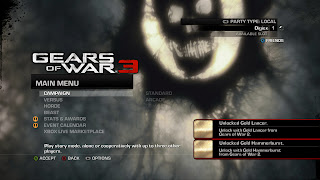 Menu of Gears of War 3