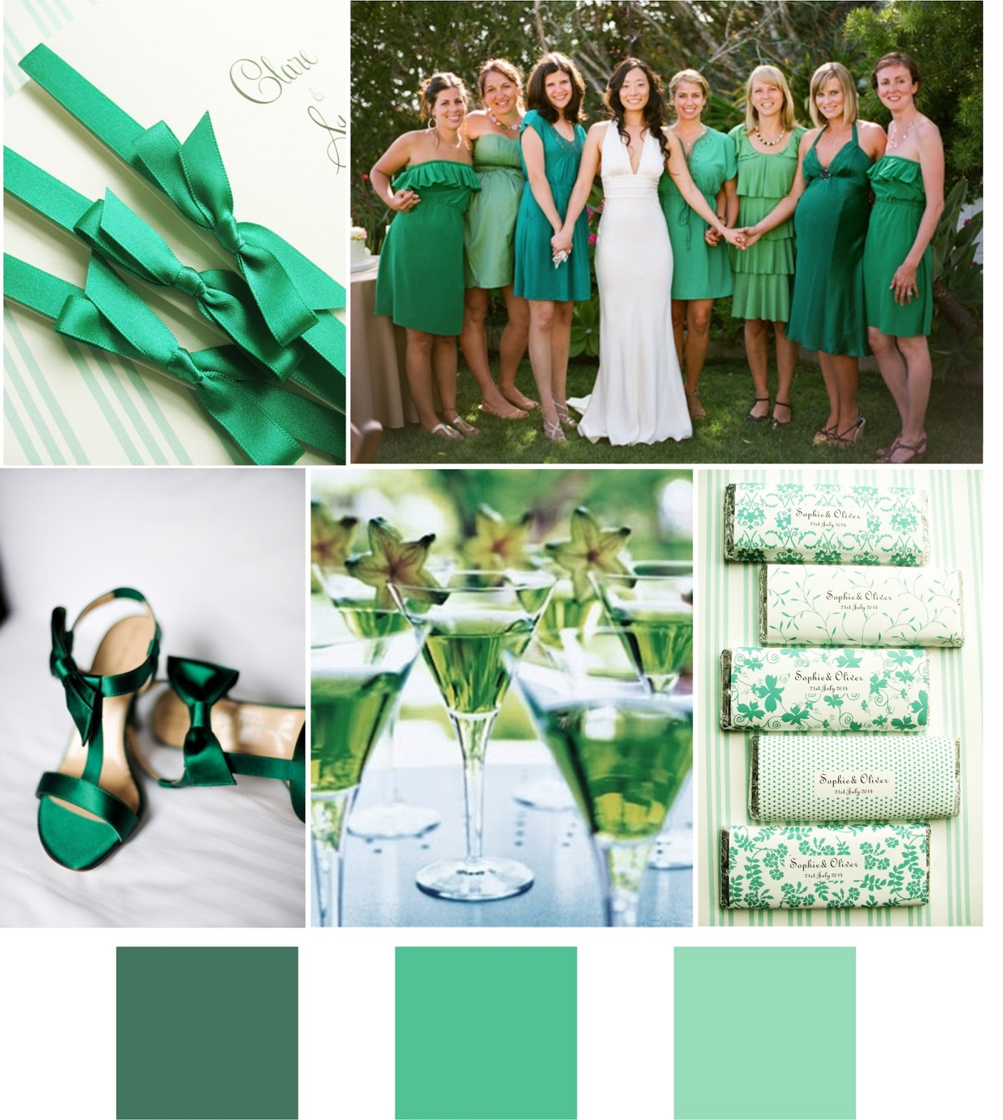 Inspiration for weddings, invitations and stationery: Emerald ...