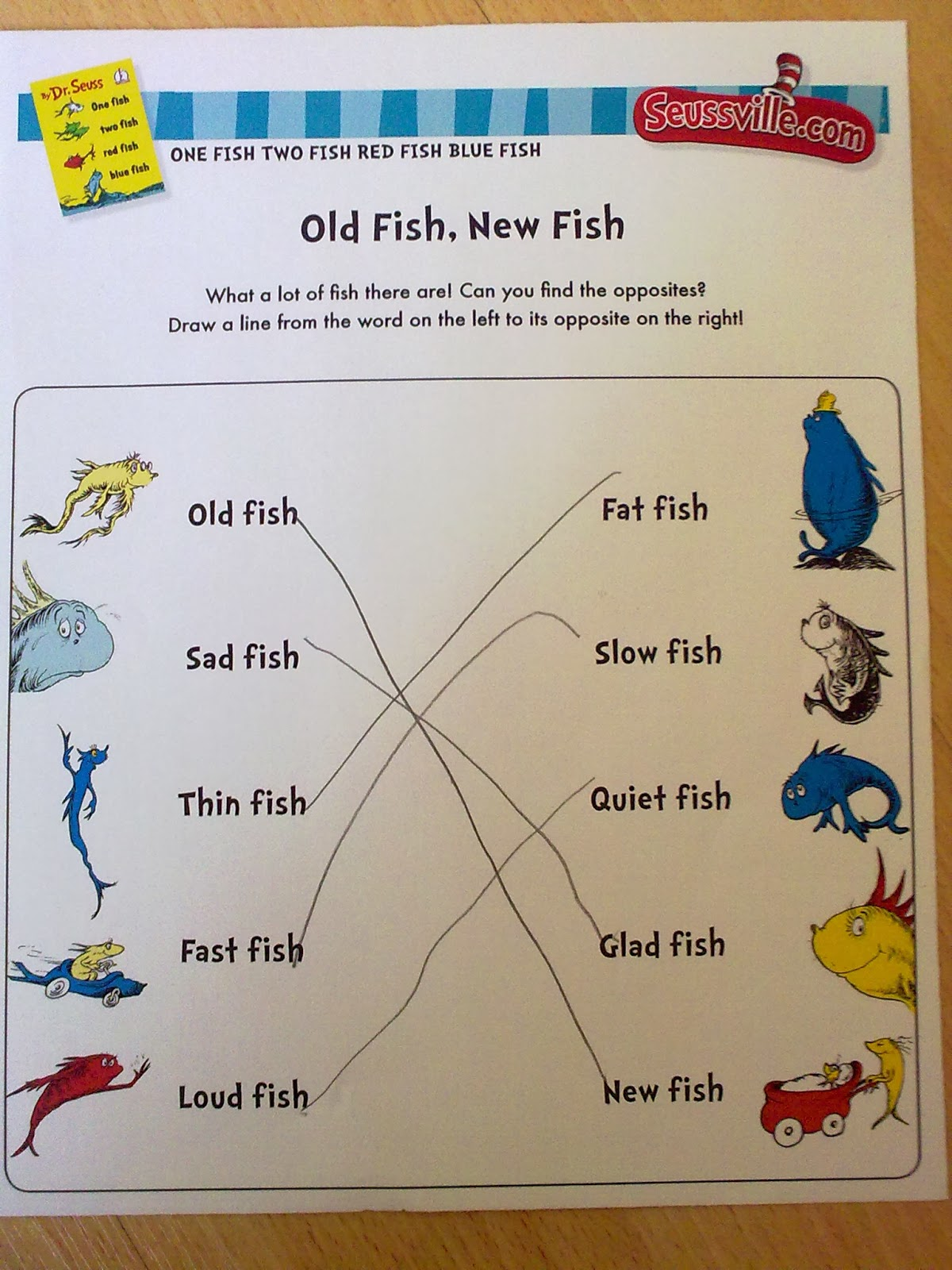 a working queen bee home learning one fish two fish red fish