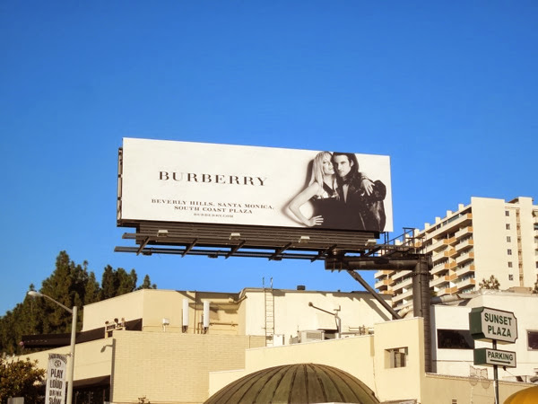 Burberry Sienna Miller Tom Sturridge FW 2013 billboard