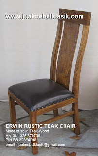 Sell teak wood dining chair kursi makan jati rustic kursi solid finishing rustic antique