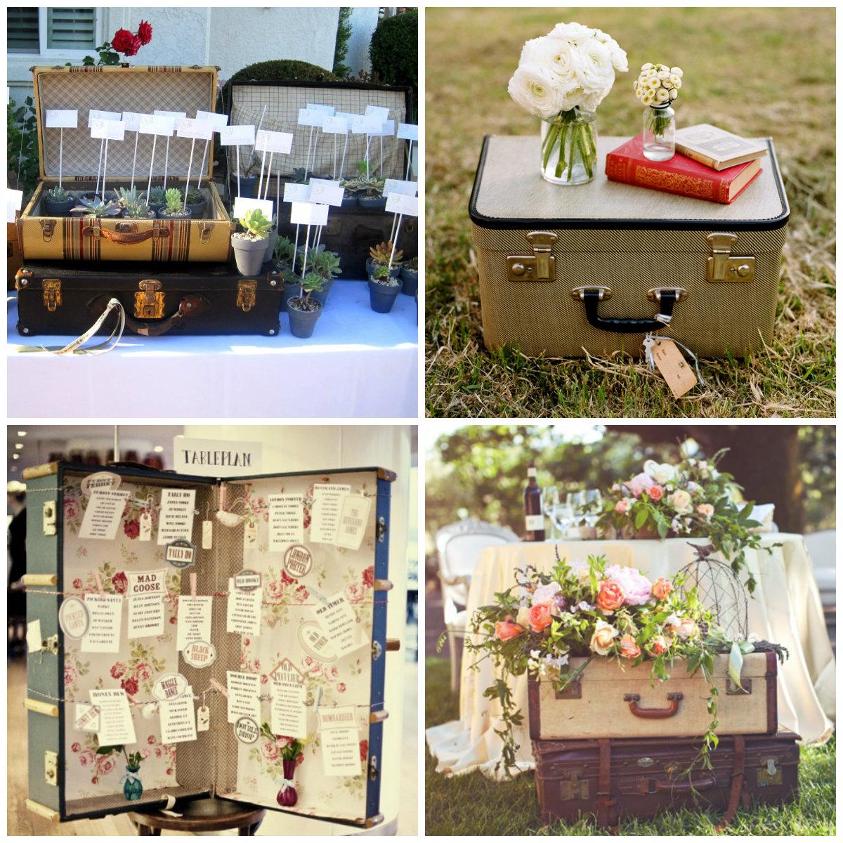 Jou jou maletas vintage para decorar una boda - Decorar tu boda ...