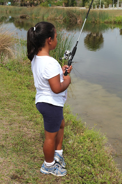 Girl Fish On Hook