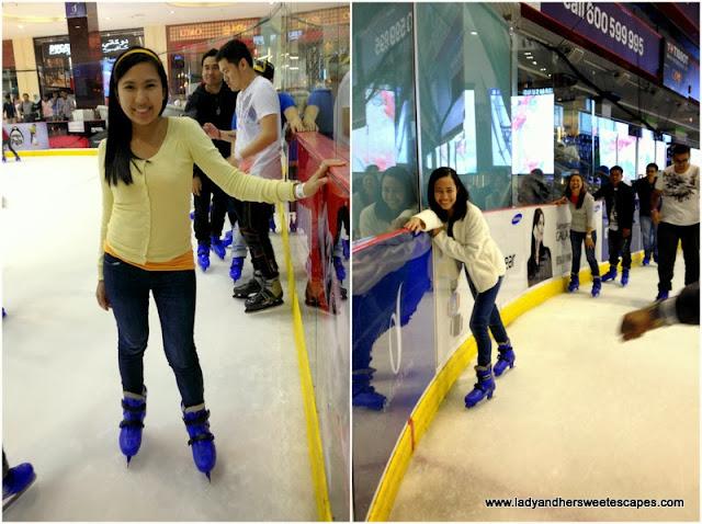 Skating at Dubai Ice Rink