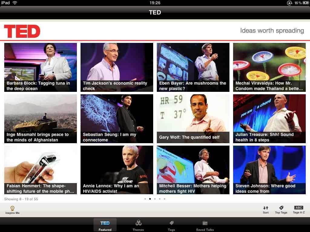التطبيق الرسمي لمؤسسة تيد العالمية بالعربية للأندرويد ، أيفون ، ويندوز فون ، بلاك بيري TED APK-iOS-xap-BB