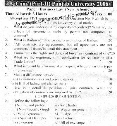 business law paper 2012 punjab university Pu llb sample papers 2018 – panjab university releases the sample papers of pu llb 2018 for the law aspirants who wish to appear in pu llb 2018 candidates can get access of the same in online mode pu llb 2018 sample papers helps the candidates to get familiar with the questions that were asked in the previous year and get a rough idea of the same.