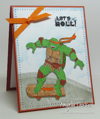 "ODBD ""Special Boy"" (sentiment), Michaelangelo Coloring Page, Card designer Angie Crockett"