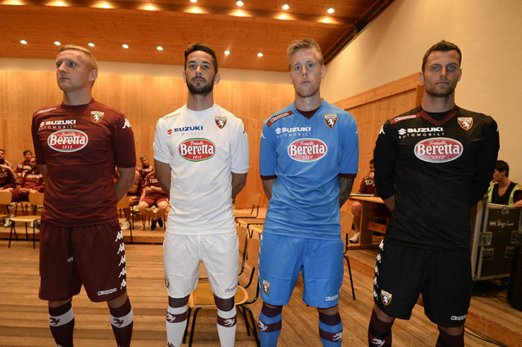 torino fc 14 15 home away and third kits released   footy