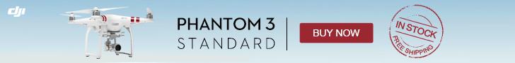 PHANTOM 3 STANDARD - IN STOCK AND FREESHIPPING