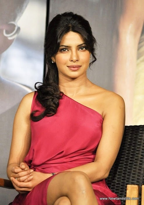 Priyanka Chopra - Priyanka Chopra in Red Hot Dress