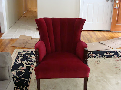 The restored chair.