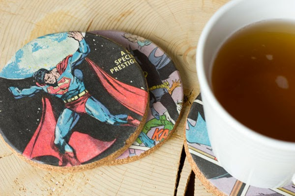 DIY coasters as gift for him