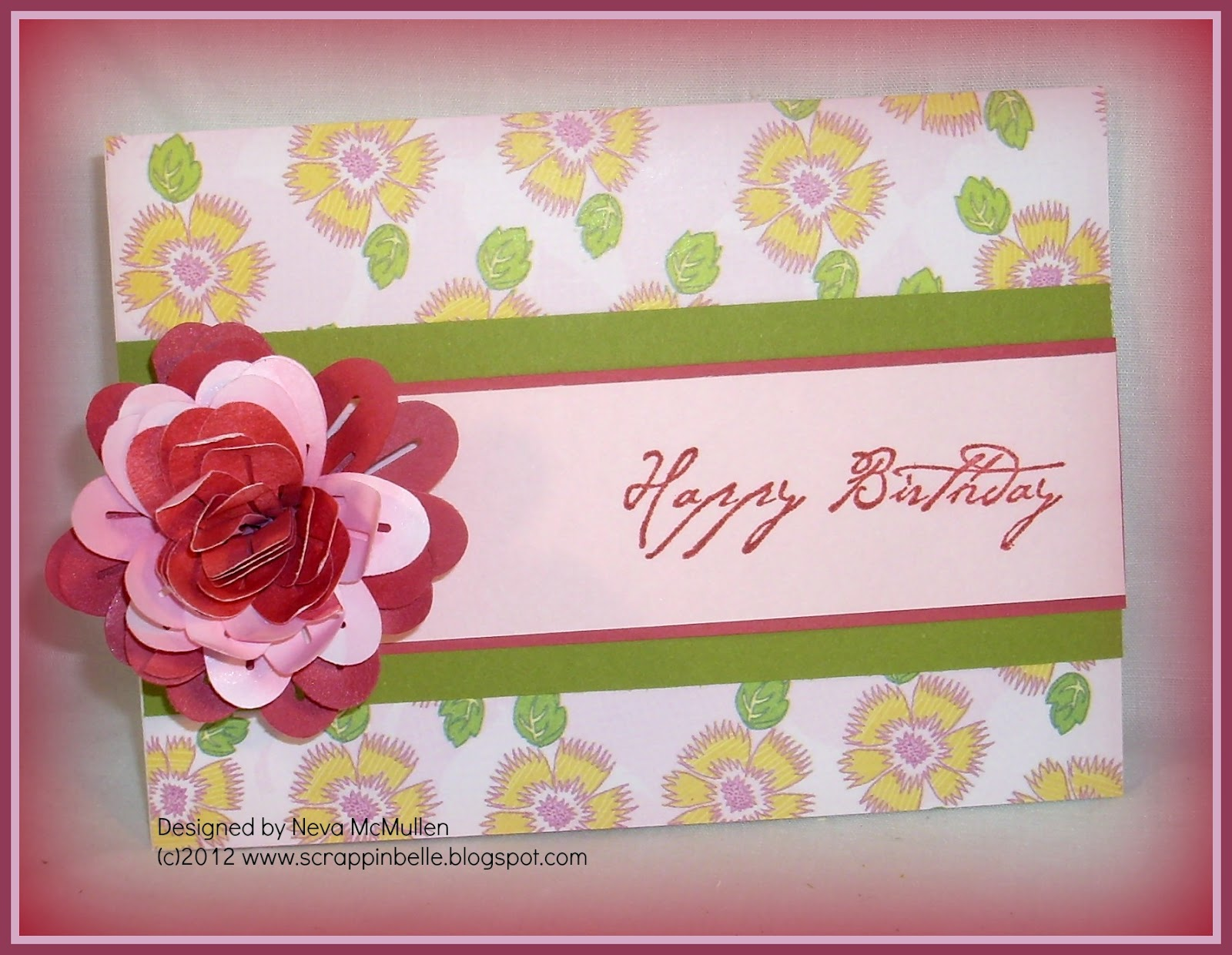 Nevas Crafty Cave Birthday Greetings With Rolled Flowers