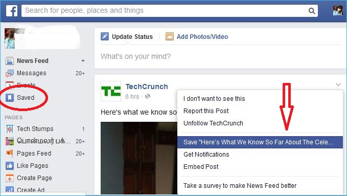 How to Save or Bookmark Links and Posts on Facebook to Read Later