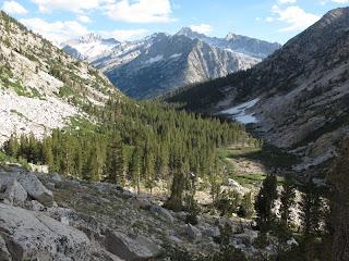 Das Tal des Laurel Creek mit Second Recess im Hintergrund