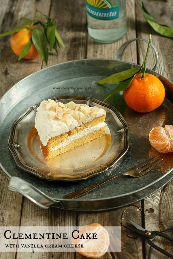 Ciasto klementynkowe z serowym kremem waniliowym