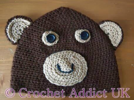 Monkey Beanie Hat Crochet Pattern : #Monkey #Beanie #Hat 1 yr+ ~ #Free #Crochet Pattern ...