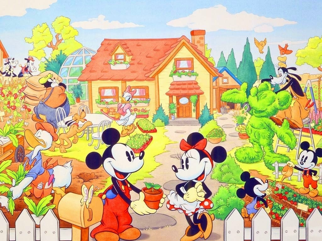 Wallpaper gallery walt disney wallpaper for Wallpaper home cartoon