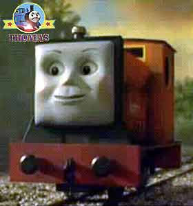 Listen Thomas diesel Rusty the tank engine hooted happily Skarloey the train telling a famous story