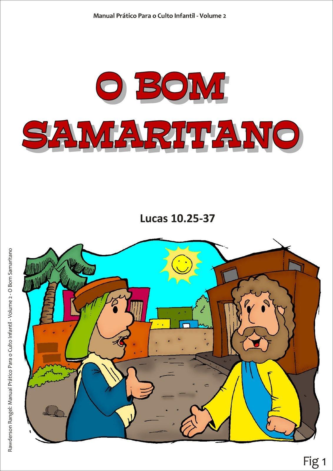 desenhos coloridos para ensinar a parabola do bom samaritano