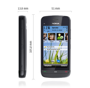 Nokia C5-03 ominaisuudet