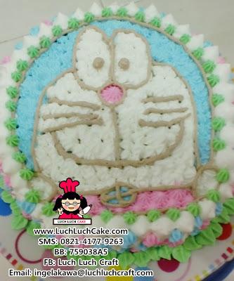 Kue Tart Doraemon Buttercream Daerah Surabaya - Sidoarjo