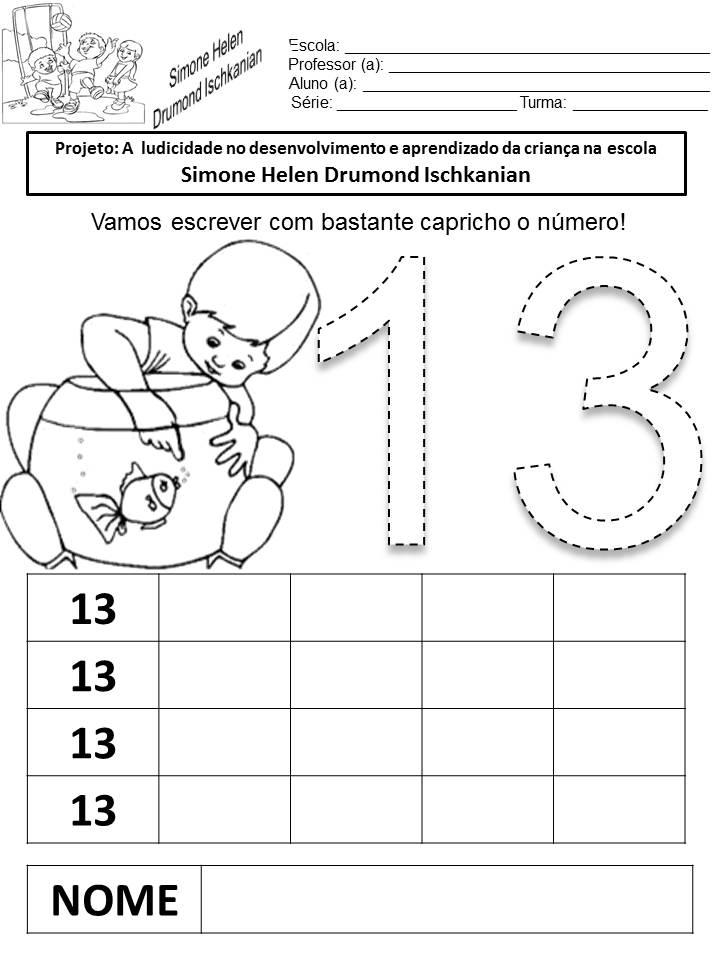 Atividades Com Números De 11 A 20 Julilu Atividades Escolares