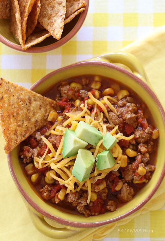 Easy Crockpot Chili Recipe: Crockpot Turkey Chili