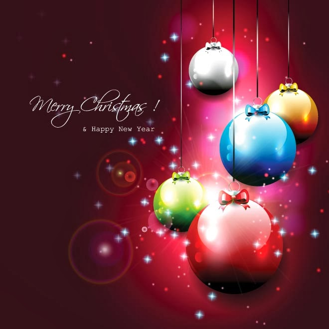 free vector illustration red abstract merry christmas and happy new year wallpaper
