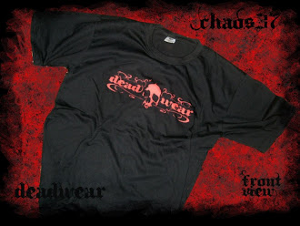 camisetas chaos37-red chaos deadwear