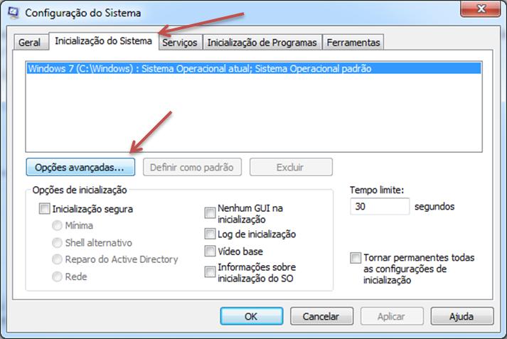 como acelerar a inicialização do Windows 7